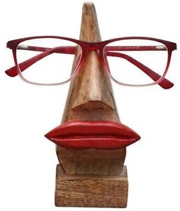Wooden Nose-Shaped Eyeglass Spec, Red Lips, Sunglasses Holder Gift your Friends