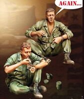 █ 1/35 Resin US 2 Soldiers on Rest Eating (Only Figures) Vietnam War BL140
