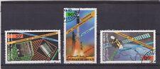 Dschibuti 1985 - Entwicklung d. Telekommunikation - Mi.454/56 - Satz, gestempelt