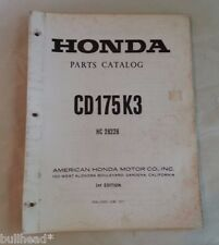 1971-74 HONDA   CD 175 / K3 / OFFICIAL  FACTORY PARTS MANUAL