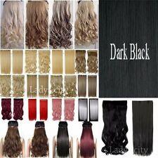 Long Real Natural 1 Piece Clip In Hair Extensions Blond Brown Black As Human TM8
