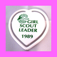 LEADER, Dupage Council Girl Scout Button Badge NEW Adult Appreciation Thank You