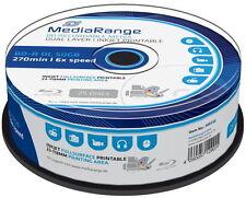 25 Mediarange Rohlinge Blu-ray BD-R Dual Layer full printable 50GB 6x Spindel