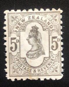 New Zealand Stamp 1882 SSF 5d Grey - Mint no Gum
