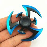 Whirlwind Sword Hand Spinner EDC Focus Gyro Toy ADD ADHD Stress Reducer Blue NEO