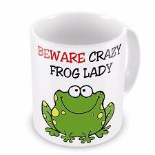 Beware Crazy FROG Lady Funny Novelty Gift Mug