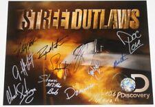 STREET OUTLAWS signed 11x14 Photo 12 Drivers Murder Nova Farmtruck AZN Jeff Lutz