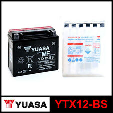 BATTERIA [YUASA] YTX12-BS (12 VOLT / 10 AMPERE) SIGILLATA+ACIDO / SEALED+ACID