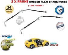 FOR Mazda RX8 1.3 2003-> 2 x FRONT RIGHT + LEFT SIDE BRAKE RUBBER FLEXI HOSE SET