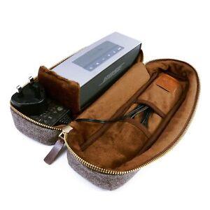 TUFF LUV Herringbone Tweed Travel Case For Bose SoundLink Mini / Mini II- Brown