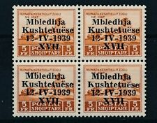 [37849] Albania 1939 Good block of 4 Very Fine MNH stamps