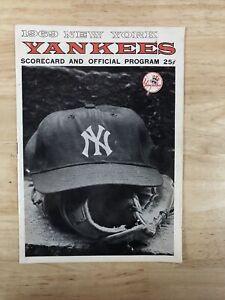 1969 New York Yankees Scorecard and Official Program