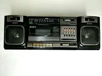 Vintage Sony CFS-1000 Stereo AM/FM Radio Cassette-Recorder Boombox AS IS