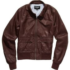 Nixon Rider Faux Leather Women's Jacket Red Jackets Oxblood Small S *New*