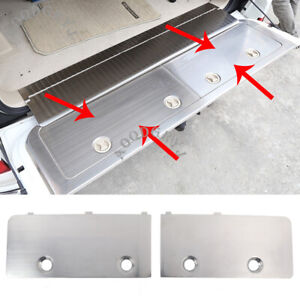 Steel Trunk Tailgate Toolbox Trim Cover For Toyota Land Cruiser LC200 2008-2020