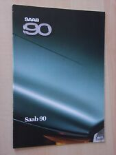 Saab 90 1986 Prospekt / Brochure / Depliant, DK (Danish)