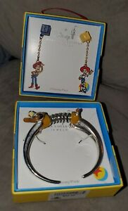 Disney Parks Collection Toy Story Woody & Jessie Earrings & Slinky Dog Bracelet