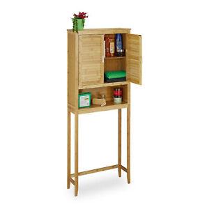 Überschrank LAMELL Bambus Waschmaschine, Badezimmerschrank, Badschrank natur