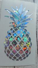 Pineapple car decal Holographic mosaic Yeti RTIC decal 3.5 height Beach life.