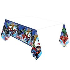 DC Comics Liga de la Justicia Mantel de plástico 1.37m x 2.43m Vajilla Fiesta