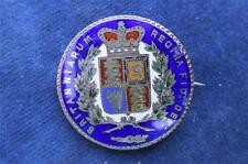 SCARCE  Victorian Silver 1847 CROWN 5/-   Enamelled Coin brooch