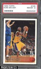 KOBE BRYANT 1996 TOPPS BASKETBALL ROOKIE CARD #138 GRADED PSA 8 NM-MT