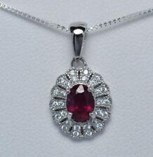 Collane e pendagli di lusso con gemme con rubino naturale