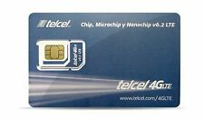 Telcel Mexico Prepaid SIM Card with Unlimited Calls and SMS in ... Free Shipping