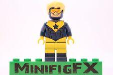 Lego BOOSTER GOLD Custom Minifig DC Superhero Justice League Michael Jon Carter