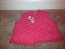 BABYWORKS Baby Girl Infant Lined Ruffled Vest Quilted Pink PreOwned Sz 6-9 MOS