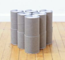 """.945/"""" ID //7.625/"""" Length Open Ended PVC Clear Square Packaging Tube 10 tubes"""