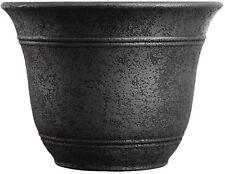 Flower Pot Large Planter 16 Inch Wide Garden Carport Patio Tree Base Black S