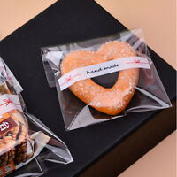 Self Adhesive Cookie Candy Package Gift Bags Cellophane Party Birthday S