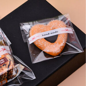Self Adhesive Cookie Candy Package Gift Bags Cellophane Bag For Party Birthday M