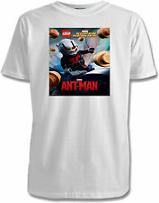 Lego Marvel 'Ant-Man' Childs T-Shirt - 4 Colours / Sizes 1-11 Yrs
