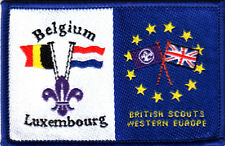 Boy Scout Double Badge Ext BELGIUM LUXEMBOURG/BRIT SCTS W EUROPE