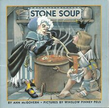 STONE SOUP BY ANN McGOVERN PICTURES BY WINSLOW PINNEY PELS SOFTCOVER SCHOLASTIC