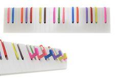 Wandgarderobe Garderobenleiste Klavier Design weiß / bunt Holz