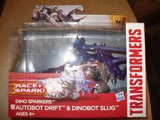 Transformers Dino Sparkers Autobot Drift & Dinobot Slug New!!!