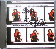 Steven ISSERLIS Signiert FAURE Cello Sonata Romance Serenade Papillon DEVOYON CD