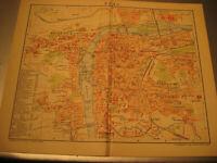 Antiker Stadtplan von 1900:Prag mit Straßenverzeichnis,Stadtdaten-Antique map