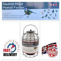 Premium Squirrel Proof Wild Bird Peanut Feeder Hanging Garden Outdoor UK STOCK