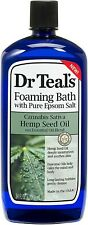 Dr Teal's Sativa Hemp Seed Oil Foaming Bath with Pure Epsom Salt, 34 oz ☆ New ☆