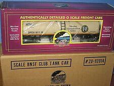 MTH Premier - Club car 2000. BNSF Modern tank car. New in box, never out C-10 sb