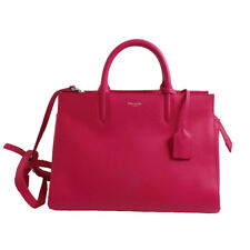 SAINT LAURENT YSL Pink Cabas Rive Gauche Bag Epson Grained Leather 400413