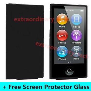 Black Silicone Soft Skin Case Cover for Apple iPod Nano 7th & 8th Generation