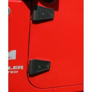 Jeep Wrangler 2007-2017 JK black door or hood hinge covers 11205.10 2 pieces