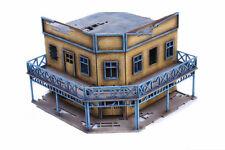 Old West Ghost Town Derelict Corner Hotel 25mm, 28mm Terrain D060
