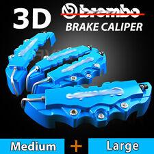 4pcs Blue 3D Disc Brake Caliper Covers Kit For Volkswagen CC Golf Tiguan Passat