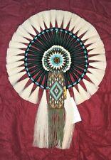 "Horsehair Bustle w Beadwork Navajo Native American Indian Regalia 17x24"" #16"